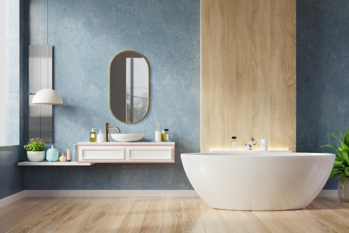оздоблення ванни пластиковими панелями